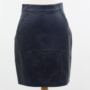 Alexander Wang Navy Leather Skirt Size 6